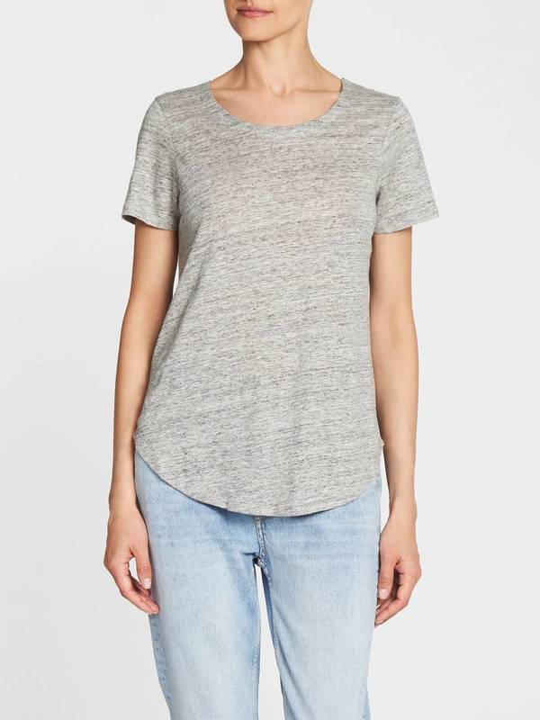 d8f2192b Chaser LA Criss Cross Back Shirt Tail Tee - Grey | Garmentory