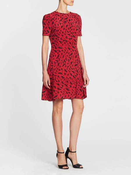 Zoe Karssen Loose Fit Electric All Over Dress - Red