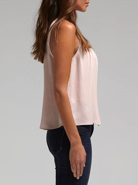 Rebecca Taylor Sleeveless Double Georgette Top - Dusty Pink