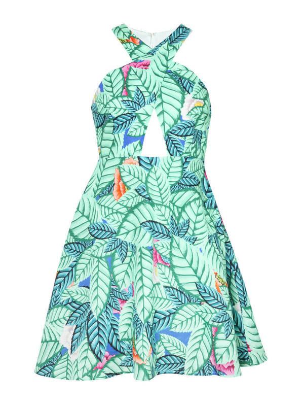Mara Hoffman Leaf Cross Front Dress