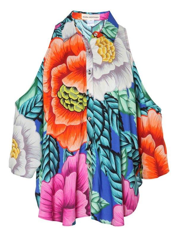 Mara Hoffman Open Shoulder Top - Floral