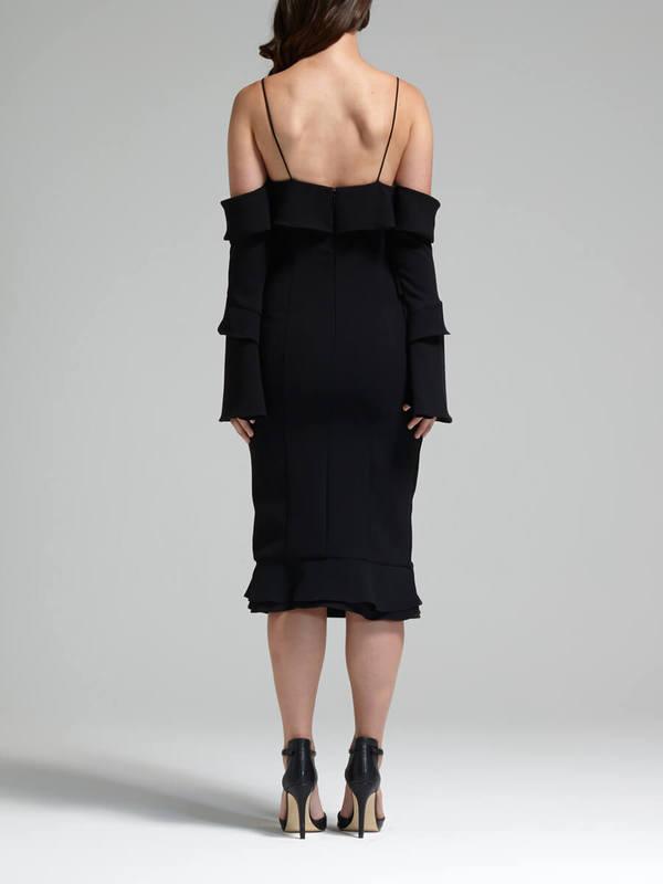 Nicholas The Label Nicholas Crepe Spiral Sleeve Dress