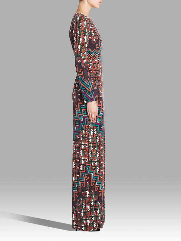 Mara Hoffman Rug Tencel Maxi Dress - Orange Multi