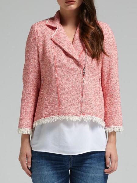 Rebecca Taylor Summer Tweed Jacket - Coral