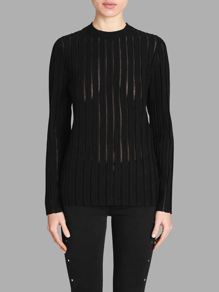 Camilla and Marc Yoko Sheer Knit Jumper - BLACK