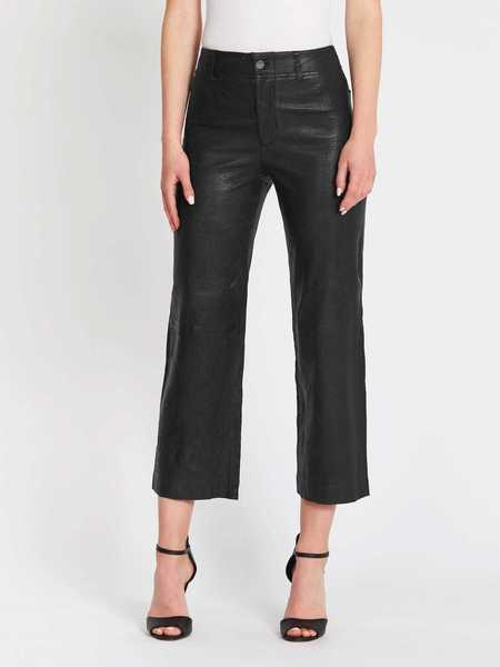 Paige Nellie Culotte Leather Pants - Black