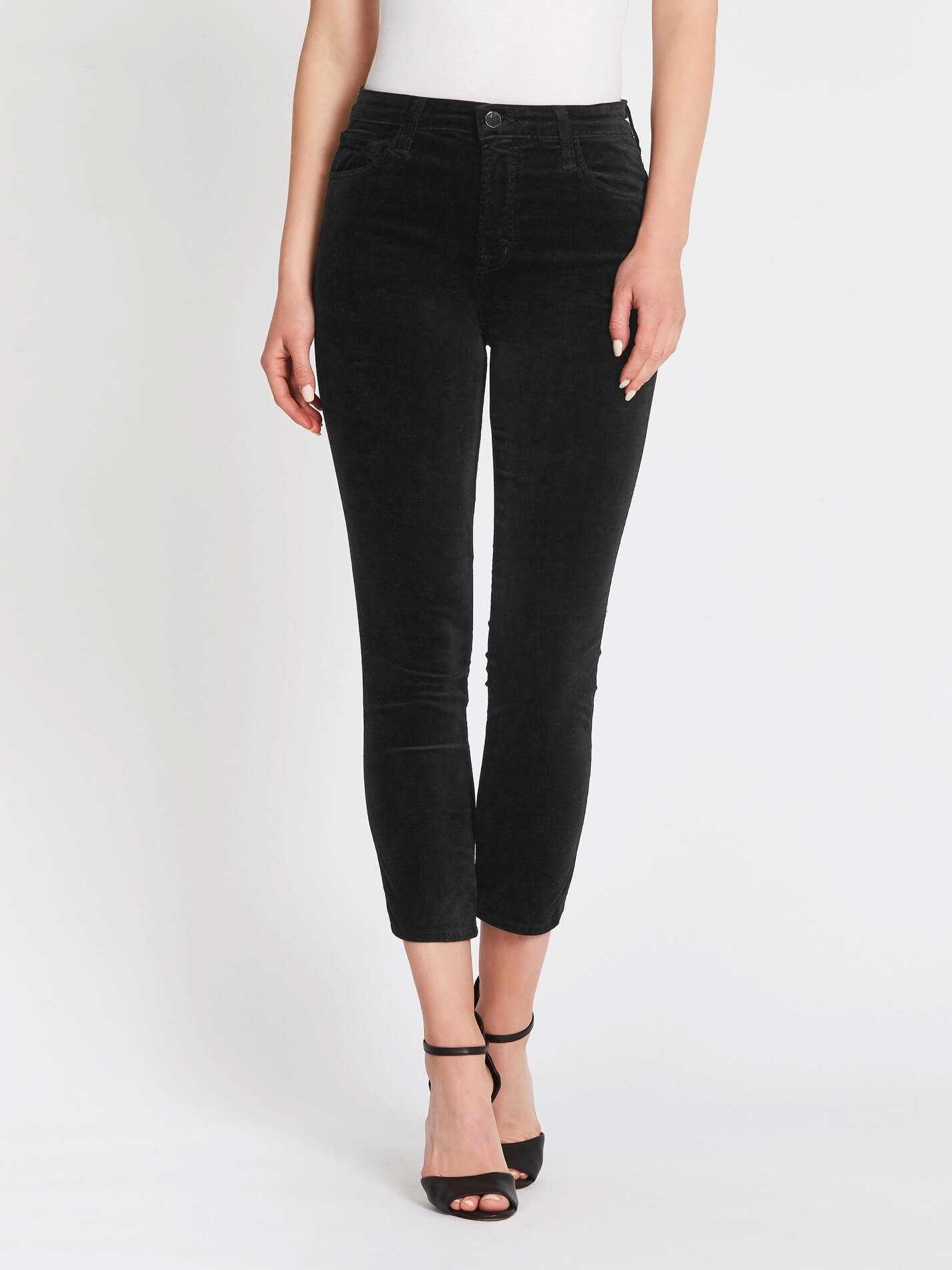 check out reasonable price best J Brand Ruby High Rise Crop Cigarette Jeans - Black | Garmentory