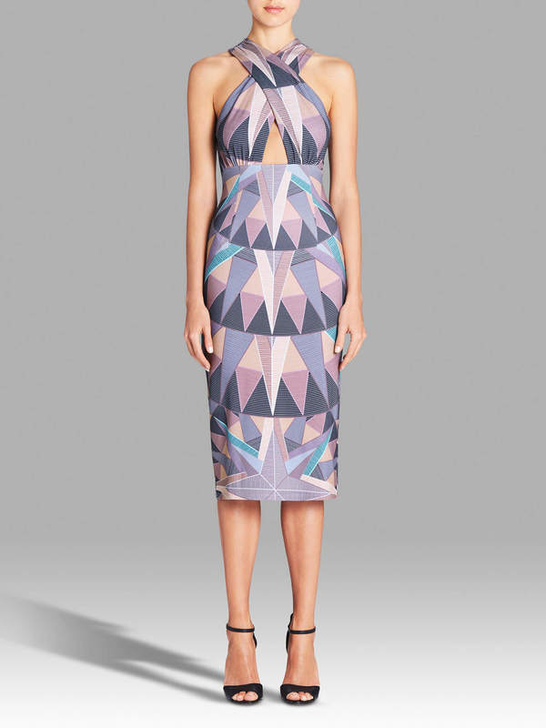 Mara Hoffman Compass Cross Front Dress - Digital Print