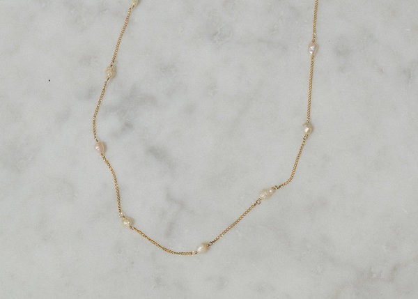 Luiny Baby Baroque Pearls Chain - Gold