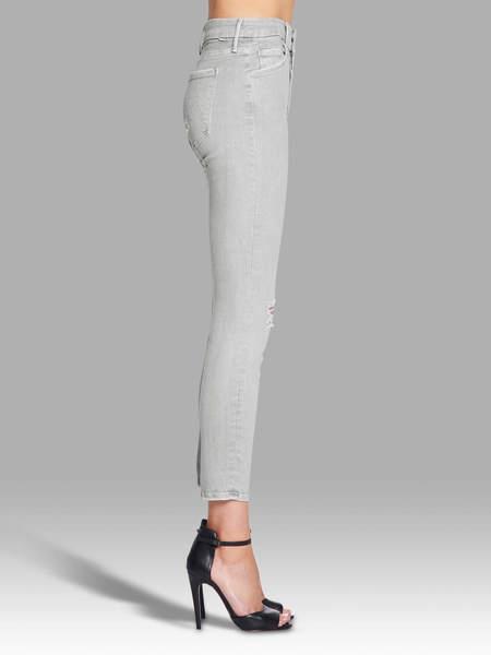 Mother Denim The Looker Crop Jean - Light Grey