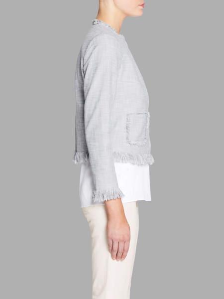 Rebecca Taylor Slub Suiting Jacket - Dove Grey