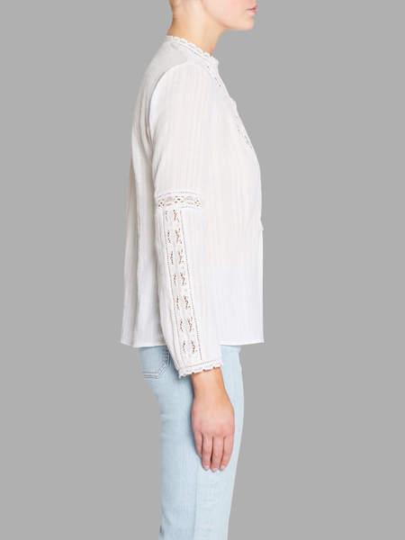 Rebecca Taylor Cotton Gauze Top - White