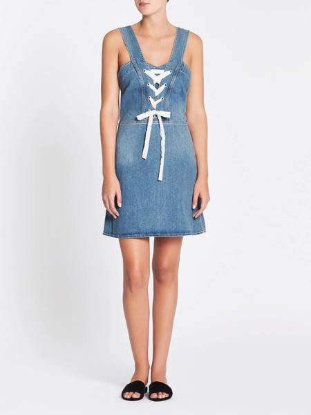 Paige Tula Dress - Mid Denim