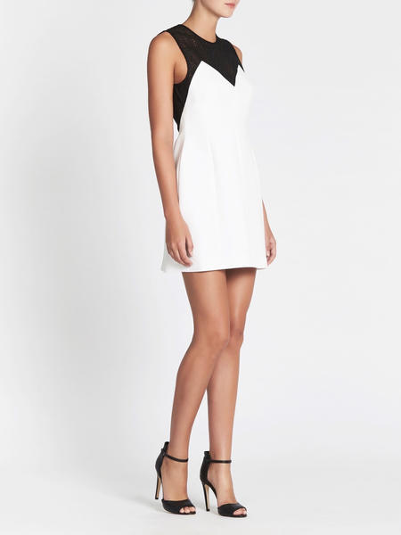 Camilla and Marc Mixografia Mini Dress - WHITE/BLACK