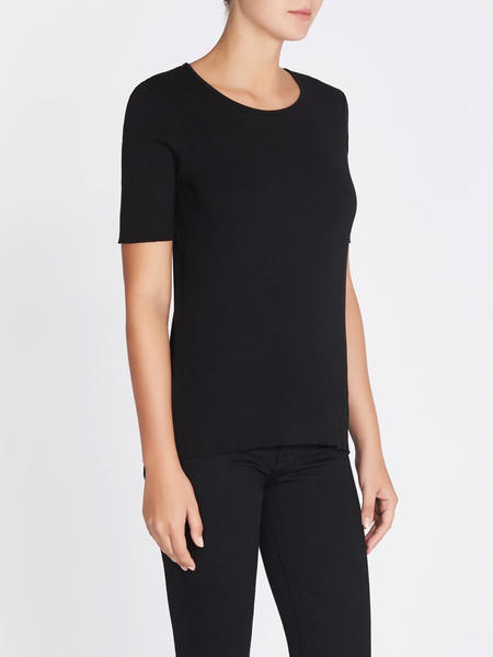 J Brand French Girl Tee - Black