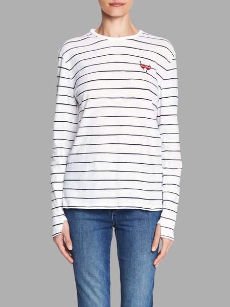 Zoe Karssen Love Hurts Loose Fit Long Sleeve Tee - White