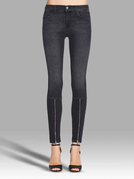 J Brand 733 Mid Rise Jeans - Black Heather