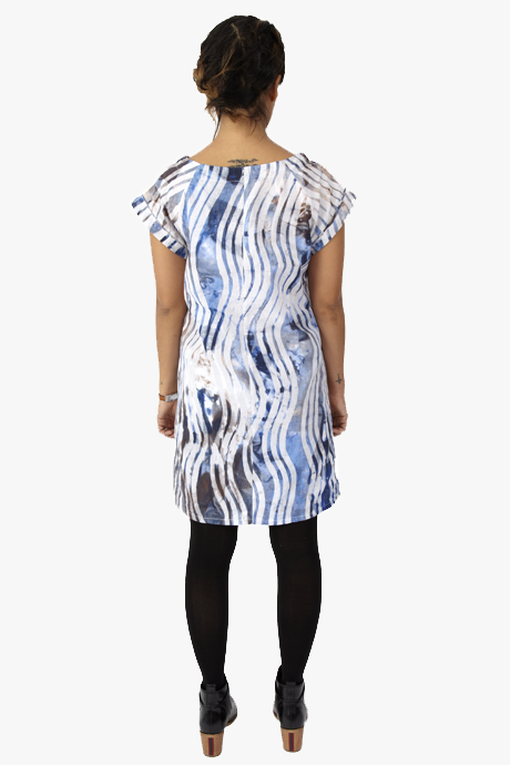 Osei-Duro Deni Raglan Dress Waves