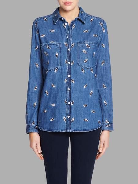 Zoe Karssen Fingers Crossed Classic Shirt - blue