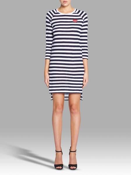 Zoe Karssen Sucker Loose Fit Long Sleeve Dress - stripe