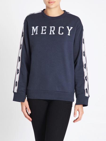 Zoe Karssen Mercy Loose Fit Sweat Top - blue