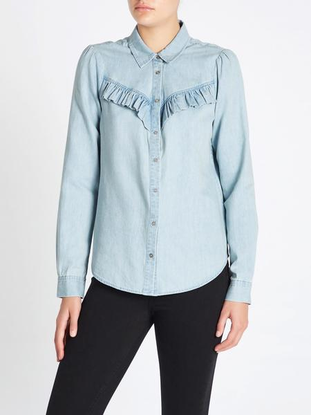 Paige Layda Shirt - Light Blue