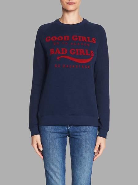 Zoe Karssen Good Girls Bad Girls Sweat Top - blue