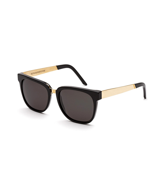 RetroSuperFuture People Sunglasses in Francis Black and Gold
