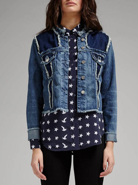 J Brand 477 Toni Jacket Fray Denim Jacket
