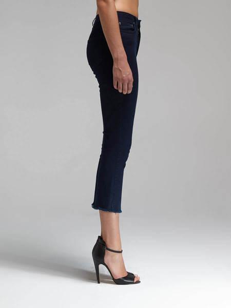 N / Nicholas Denim Crop Flare Jean - Indigo Blue