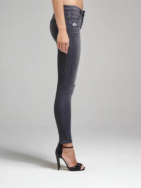 Paige Verdugo Ankle Crop Jean - Luna Grey Destruct