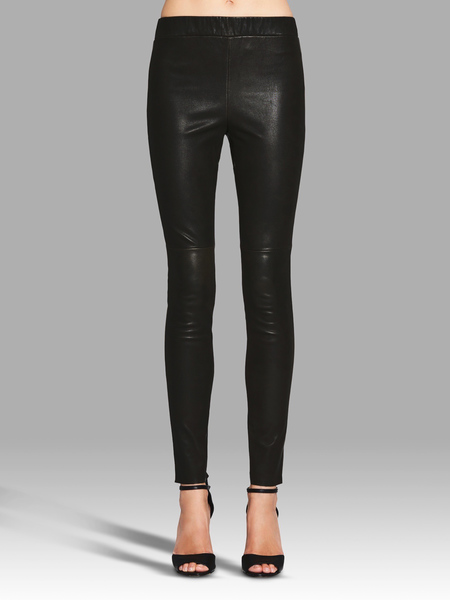Camilla and Marc Ratio Leather Legging - BLACK