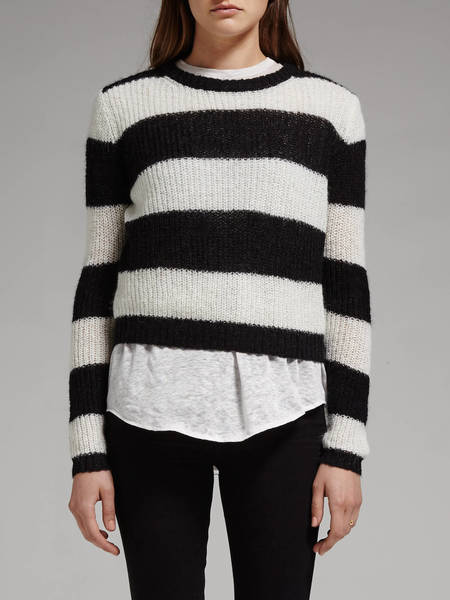 american vintage Nashua Knit - Black/White