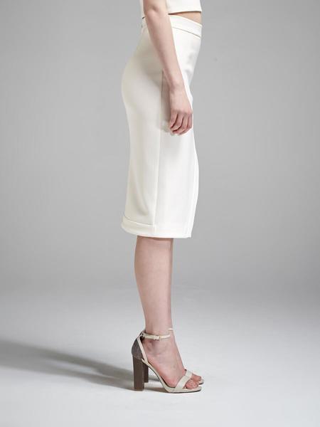 Nicholas The Label Bonded Silk Wrap Split Skirt - Pale Blush Pink