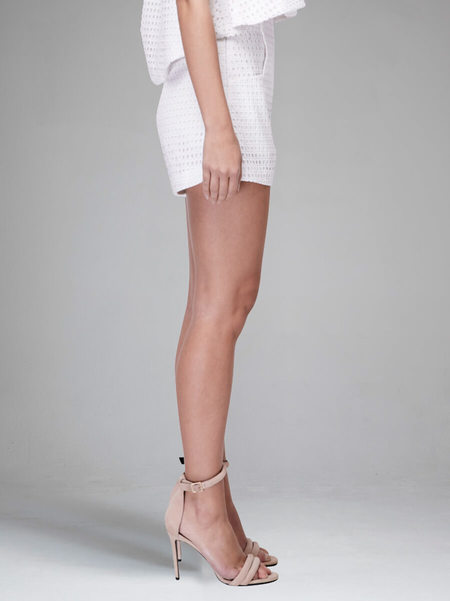 N / Nicholas Broderie Tailored Shorts