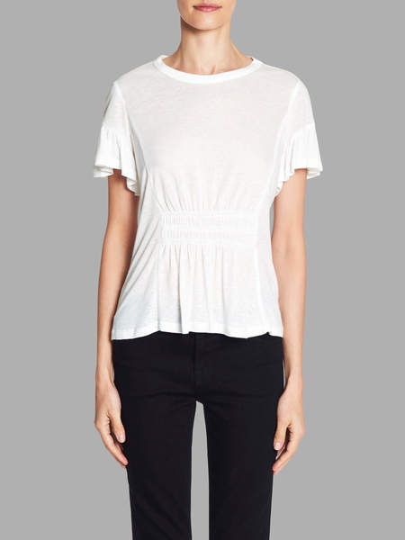 Rebecca Taylor Ruched Jersey Tee