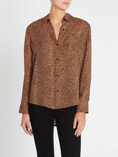 Current Elliott The Derby Shirt - Spotted Leopard