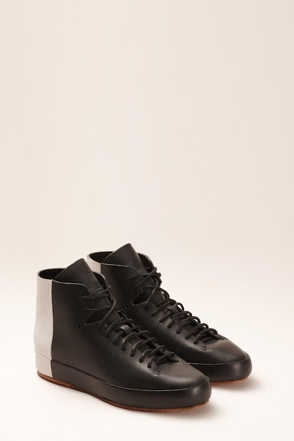 FEIT BiColor High Black/White Shoe