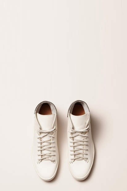 FEIT BiColor High White/Black Shoe