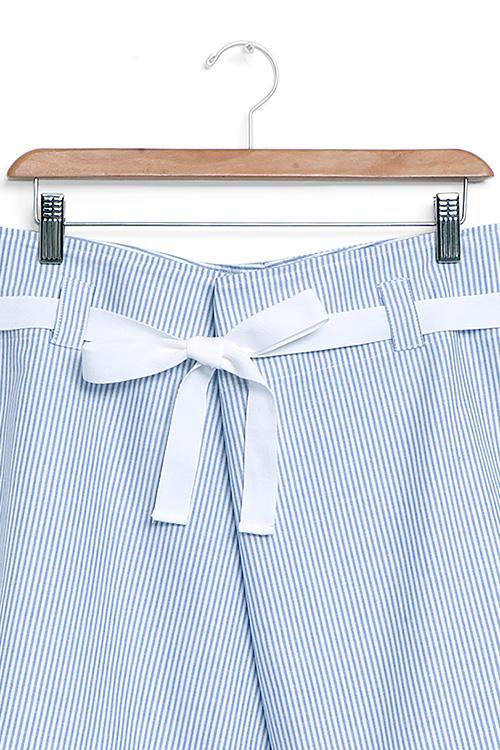 The Sleep Shirt Fisherman's Short Blue Oxford Stripe