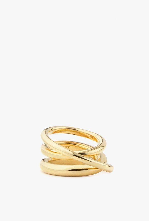 MM Druck Trois Ring - Gold Vermeil