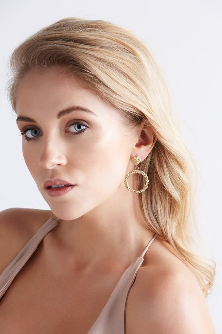 Love & Object Olympia Collection Annah Hoops