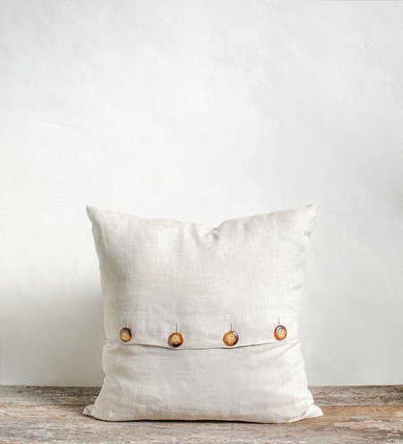 Sonny Button Up Pillow Cover - Natural