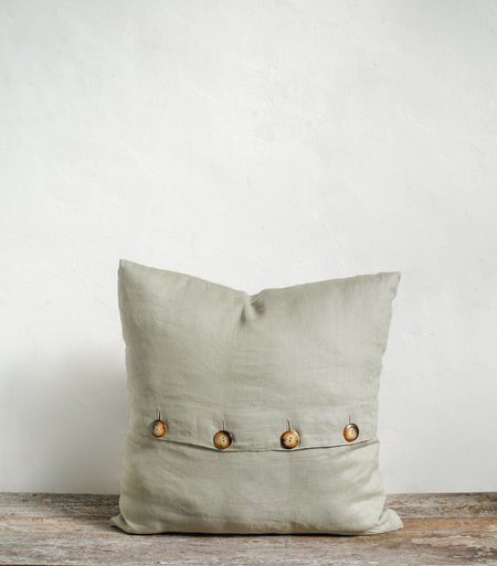 Sonny Button Up Pillow Cover - Sage