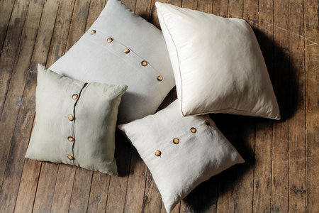 Sonny Framed Pillow Cover - Cream