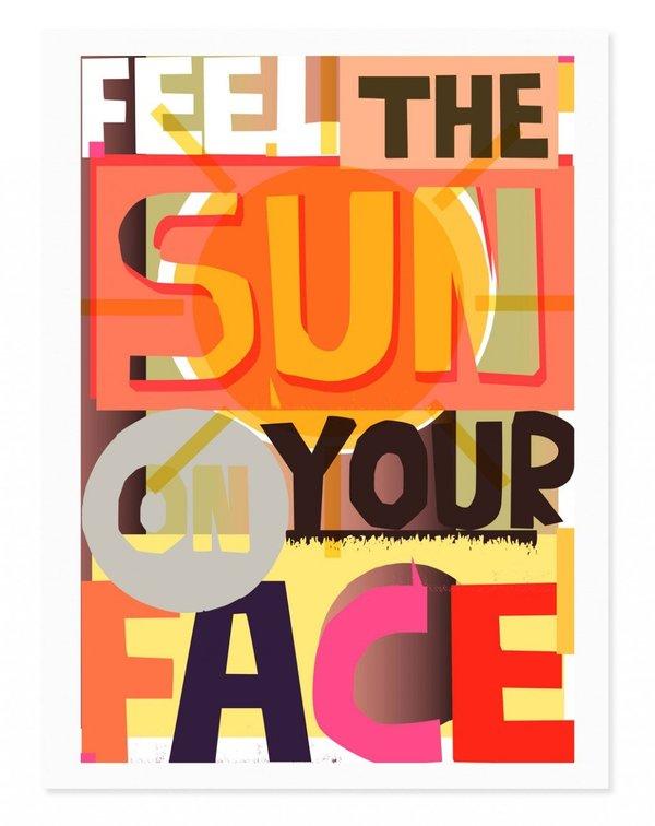Rude Sun on your Face Print