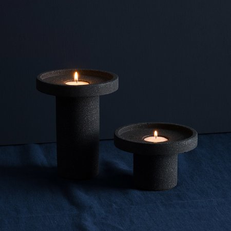 Ornamental Grace Tall Black candle holder by Ornamental Grace