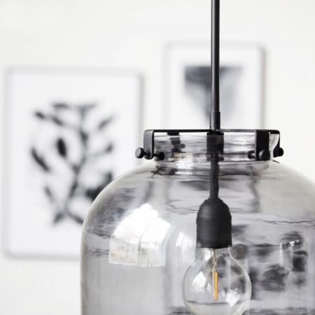 House Doctor glass pendant - Grey