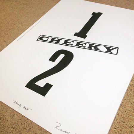 "Hooksmith Press ""Cheeky"" half print"
