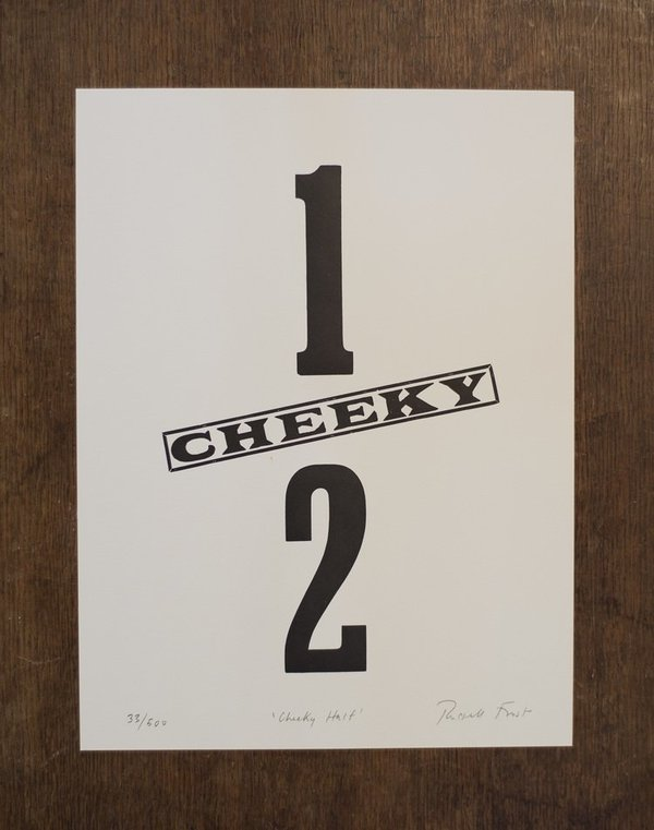 "Hooksmith Press ""Cheeky"" half print"